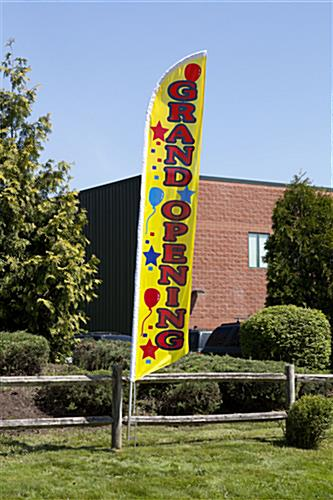 Grand Opening Flags Feather Banner W Vertical Message