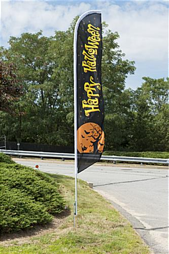 Seasonal Halloween outdoor flag for corporate decorations