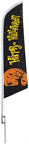 Seasonal Halloween outdoor flag with moon graphic