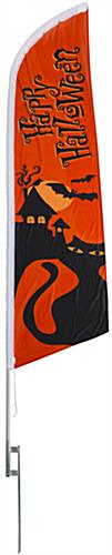 Halloween theme feather flag with cat graphics