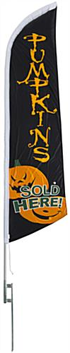Halloween feather PUMPKINS message flag with predesigned graphics