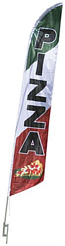 Pizza Flag with Aluminum Pole