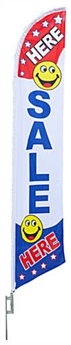 "Sale Here Flag – ""Here Sale Here"" Message"