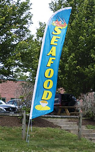Seafood Flag with Shrimp Graphic