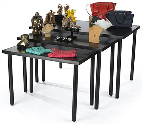 3 Piece Black Nesting Tables
