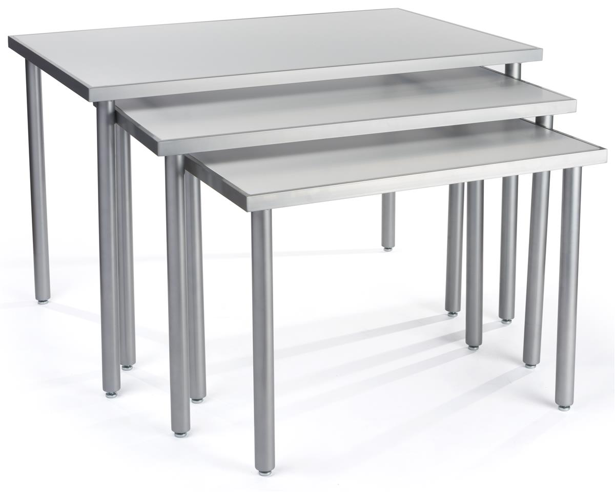 Piece nesting tables small medium and large fixtures