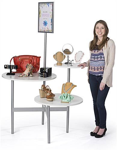 Modern Display Table with Ample Product Space