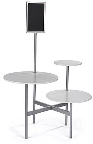 Modern Display Table with MDF Tabletops