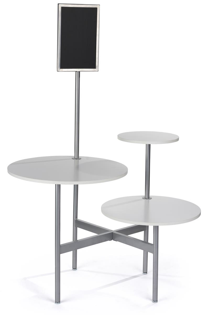 Modern Display Table 3 Round Tabletops