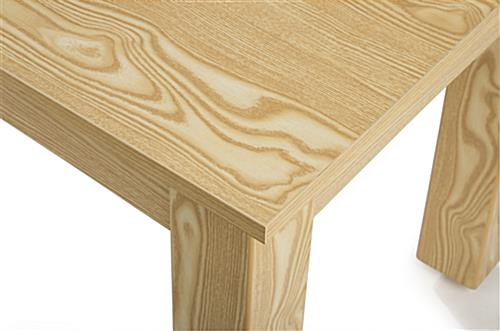 Wooden Display Tables with Wood Grain Finish