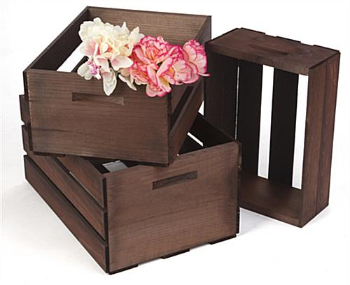 Wood Display Crates for Flowers