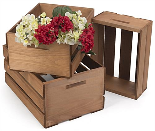 Wooden Display Crates for Retail Use