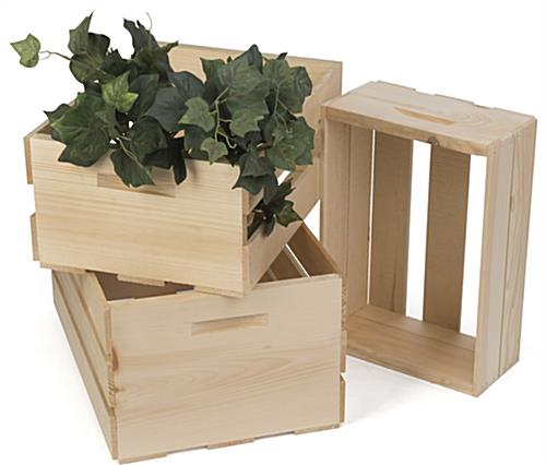 Retail Display Crates with Northern White Pine