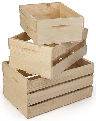 Retail Display Crates Northern White Pine Build