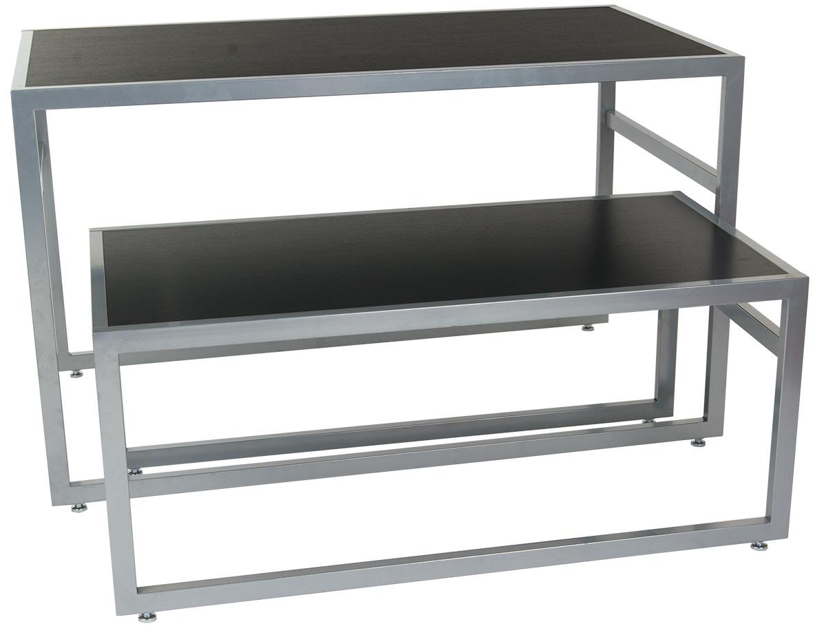 Displays2go Nesting Display Tables, Rectangular, Set of 2...