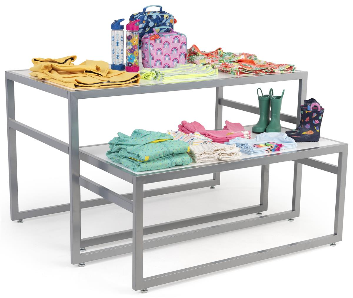 White Nesting Tables Retail Furniture Clothing Furniture. Full resolution  photo, nominally Width 1200 Height 925 pixels, photo with #60666B.