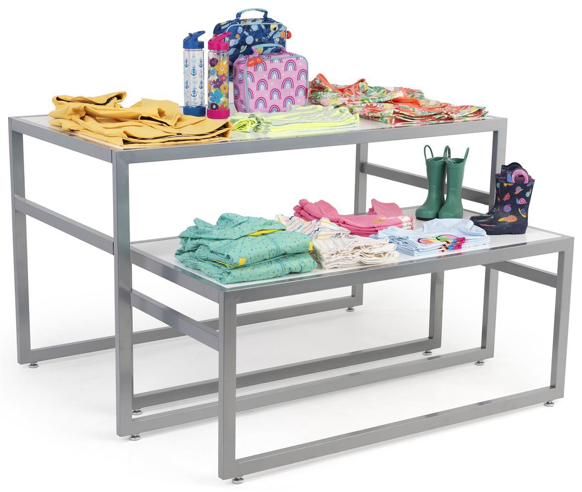 White Nesting Tables Retail Furniture W Contemporary Design