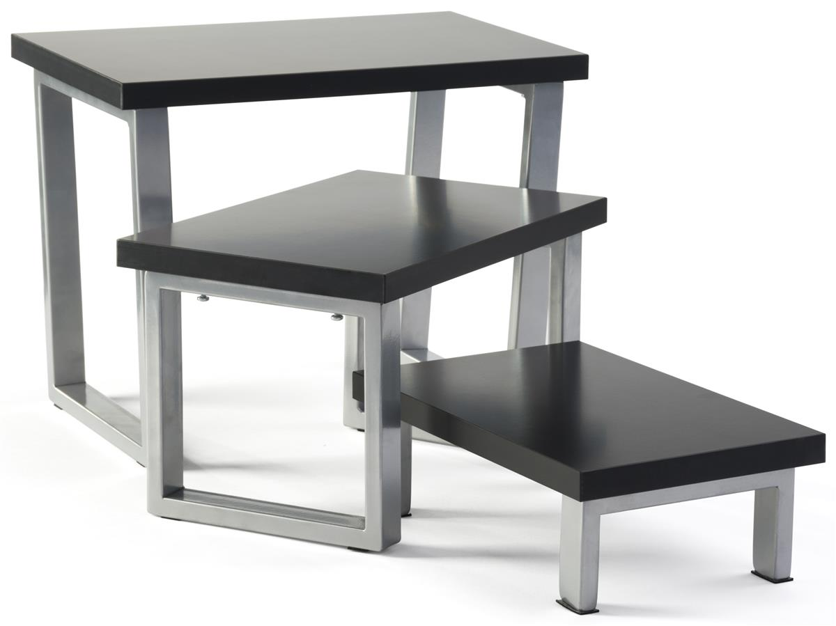 Black Nesting Risers Scratch Resistant Surface. Full resolution  photo, nominally Width 1200 Height 899 pixels, photo with #6A6861.