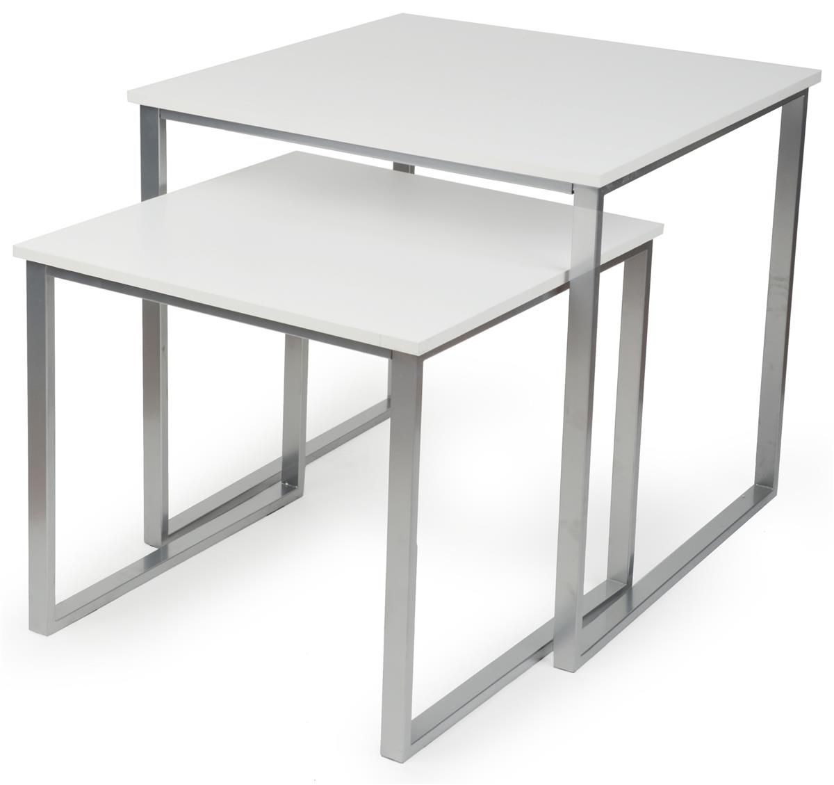 White Nesting Table For Retail Store ~ Retail nesting tables set of square displays