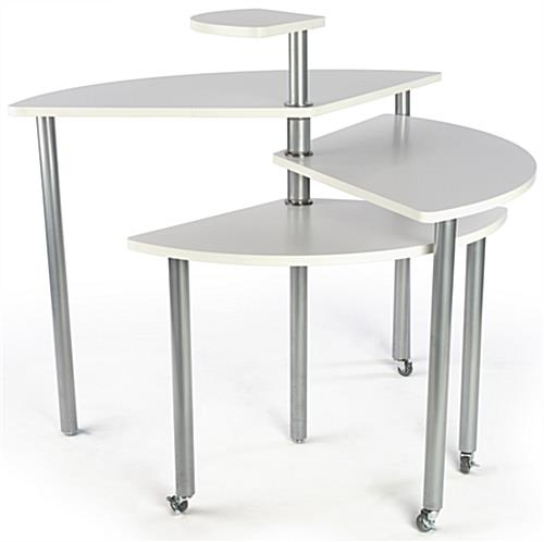 ... White Rotating Retail Display Table For Merchandise ...