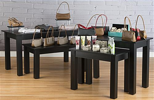 Retail Nesting Table in Use