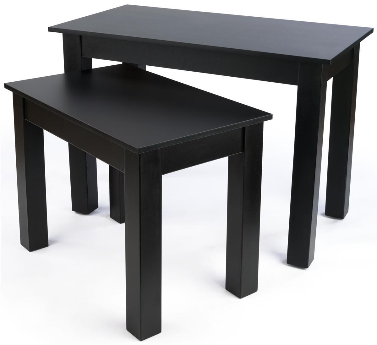 Retail nesting table black melamine finish