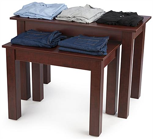 Durable Cherry Wood Nesting Tables Cherry Wood Nesting Tables Promoting  Products. Cherry Wood Nesting Tables   Sold in Set of 2