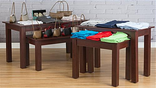 ... Cherry Wood Nesting Tables In A Retail Store