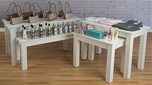 Small Nesting Table Set in Retail Store