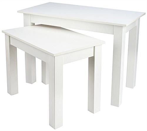 Small Nesting Table Set with Melamine Finish