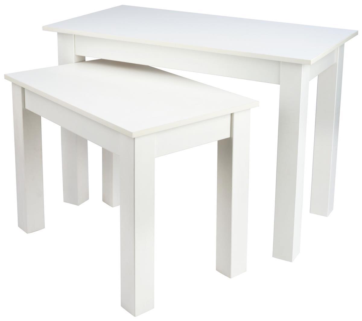 Small Nesting Table Set Rectangular Build