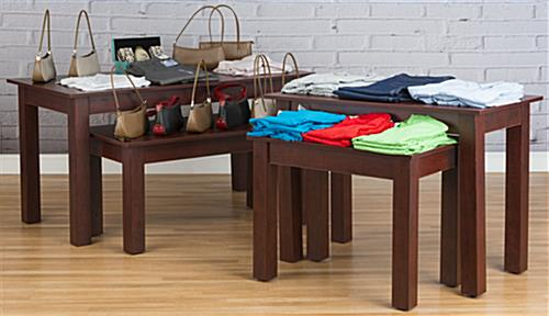 Cherry Nesting Tables in Use
