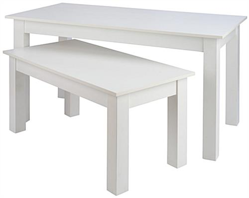 2 Piece Nesting Table Set with Melamine Finish