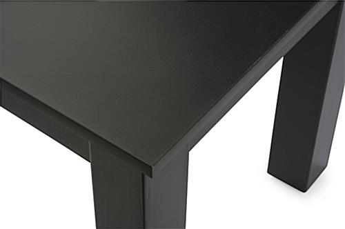 Merchandising Tables with Laminated Surface