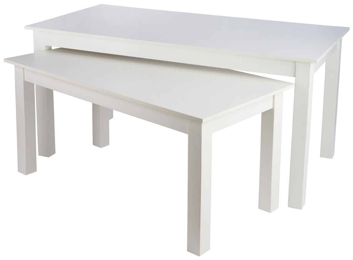 Large Nesting Table White Melamine Finish