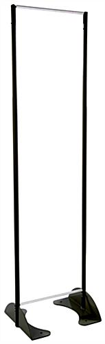 "16"" x 72"" Black Permanent Banner Stand w/o Graphic; w/ Spring Loaded Tension Bar"
