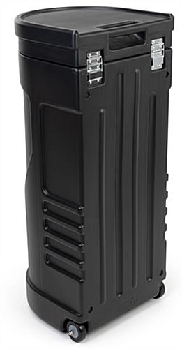 travel case podium stand - dual usability is perfect for people on the move
