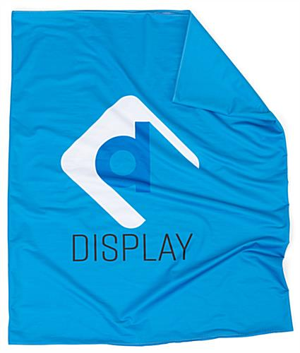 podium case graphic wrap created with high opacity stretch polyster blend material