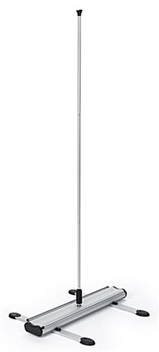 Outdoor double-sided banner display stand with 3-piece bungee pole