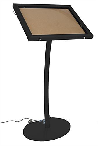 Menu Board Stand Illuminated Free Standing Restaurant Sign
