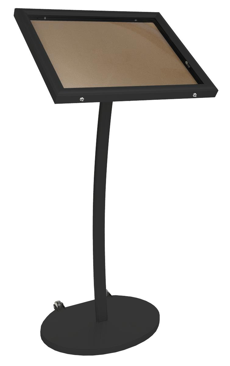 Stand Board Designs : Cork board stand freestanding outdoor sign holder