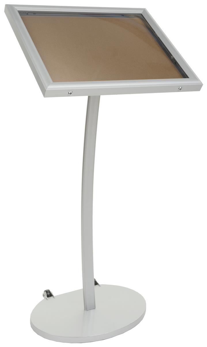 Cork Board Stand Outdoor Notice Board With Wheels