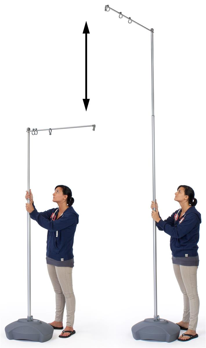 Outdoor Flag Pole Stands Adjustable Stand Banner Not