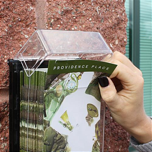 Outdoor leaflet holders flyer boxes for building exteriors - Outdoor brochure holders for exterior use ...
