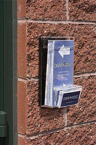Outdoor Leaflet Dispenser For Wall Mounted Display
