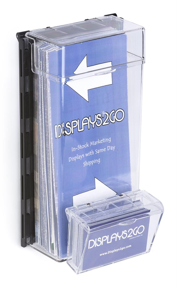outdoor leaflet dispenser  wall mounted with hinged lid