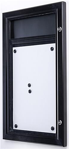 Menu display case outdoor rated locking bulletin board for Exterior display case
