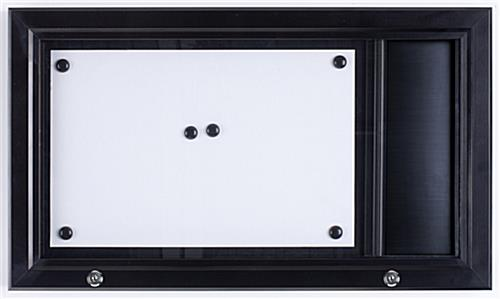Menu Display Case with Header Bar