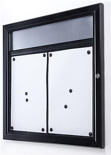 menu display case outdoor rated locking magnetic surface
