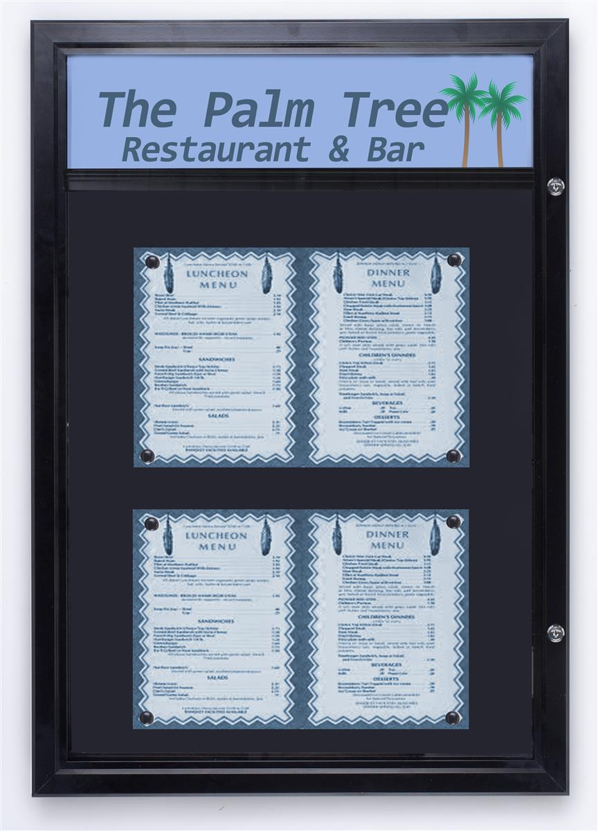 Displays2go 27 x 38 Enclosed Bulletin Board for Outdoors,...